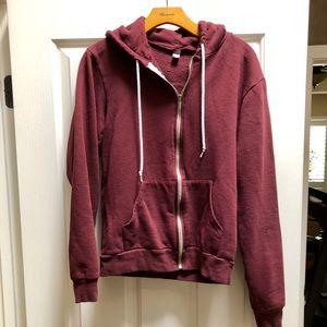 American Apparel maroon hoodie!